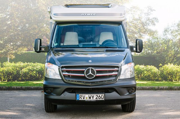 HYMER Kühlergrilldekor Chrom/Rot Mercedes Benz