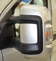 HYMER Außenspiegelkappen Silver brushed, Fiat Ducato, 2-teilig