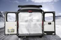 Thermoisolierung klappbar für Hecktüren Hymercar Rio, Yellowstone, Serengeti, Grand Canyon