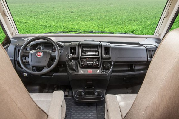 Dashboard trim Fiat Ducato / silver finish