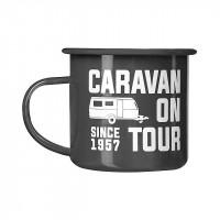 "Enamel cup ""Caravan since 1957"""