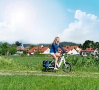 Pack E-Bike incluant le panier porte-bagages et l'antivol ABUS
